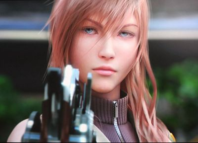 Final Fantasy, video games, Final Fantasy XIII, girls with guns, Claire Farron - duplicate desktop wallpaper