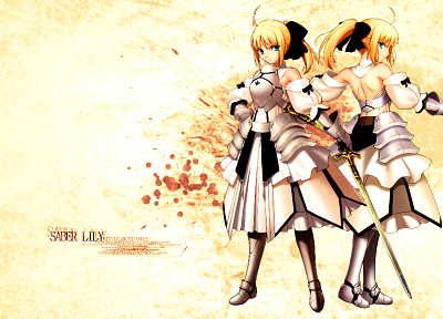 Fate/Stay Night, Fate Unlimited Codes, Saber, Saber Lily, detached sleeves, Fate series - desktop wallpaper
