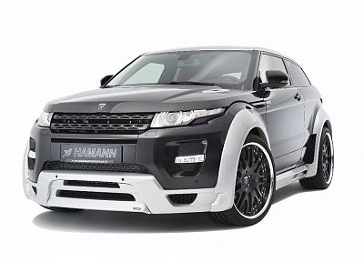 cars, studio, front, vehicles, Range Rover, Hamann, white background, Range Rover Evoque - related desktop wallpaper
