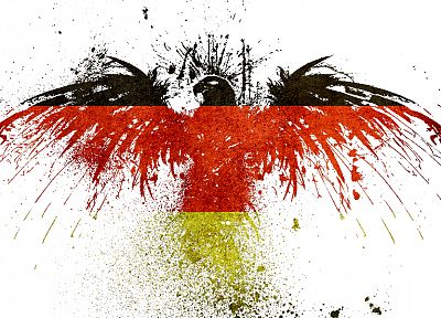 black, red, yellow, Germany, gold, eagles, hawk - desktop wallpaper