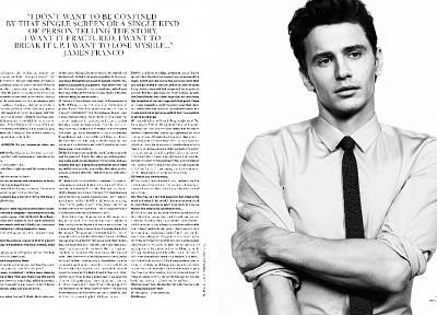 monochrome, James Franco, magazine scans, Inez, white background - random desktop wallpaper