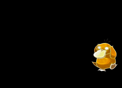 Pokemon, Psyduck, simple background, black background - desktop wallpaper