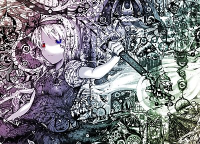 abstract, Touhou, Konpaku Youmu - random desktop wallpaper