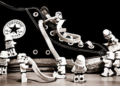 abstract, stormtroopers, Converse, Legos - random desktop wallpaper
