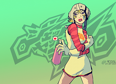 video games, graffiti, Jet Set Radio, Jet Set Radio Future, spray paint - desktop wallpaper