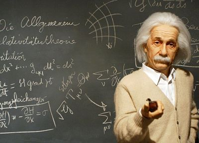 science, Albert Einstein, chalkboards - random desktop wallpaper