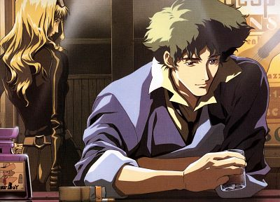 Cowboy Bebop, Spike Spiegel, Julia (Cowboy Bebop) - related desktop wallpaper