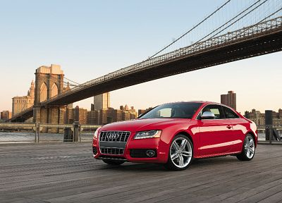 cars, Audi, Brooklyn Bridge, New York City - random desktop wallpaper