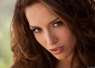 brunettes, women, Digital Desire magazine, Malena Morgan, faces - desktop wallpaper