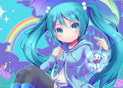 Vocaloid, Hatsune Miku, twintails - desktop wallpaper