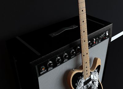 abstract, Fender, guitars, amplifiers, Fender Stratocaster - random desktop wallpaper