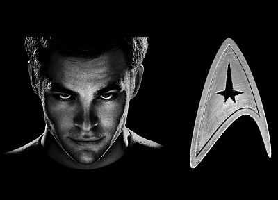 Star Trek, James T. Kirk, Star Trek logos - random desktop wallpaper