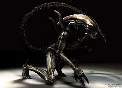 3D view, Xenomorph, Aliens movie - random desktop wallpaper