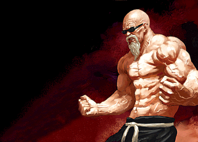 sunglasses, muscles, Roshi, old people - random desktop wallpaper