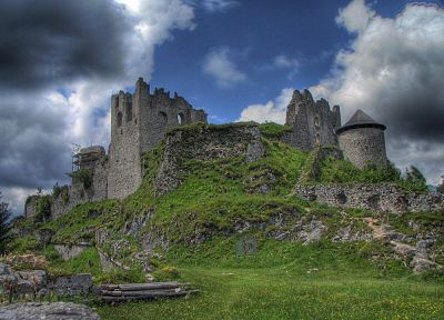 castles, ruins, architecture, buildings, HDR photography - related desktop wallpaper