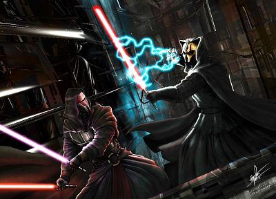 Star Wars, lightsabers, Darth  Revan, Darth Nihilus - desktop wallpaper