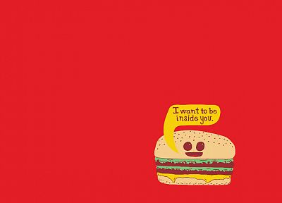 funny, hamburgers - desktop wallpaper