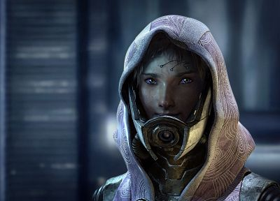 video games, Mass Effect, science fiction, artwork, Tali'Zorah vas Neema nar Rayya, Tali Zorah nar Rayya - related desktop wallpaper