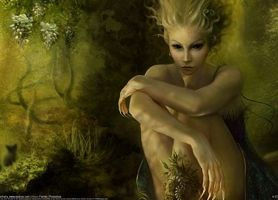 eyes, fantasy art, Benita Winckler - desktop wallpaper