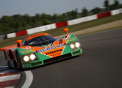 Mazda, Le Mans, vehicles, rotary, Rotary engine, Mazda 787B, racing cars - random desktop wallpaper