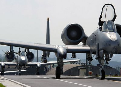 aircraft, military, Warthog, Thunderbolt, A-10 Thunderbolt II - desktop wallpaper