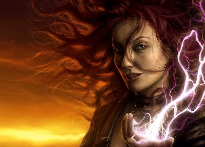 fantasy art, lightning - desktop wallpaper