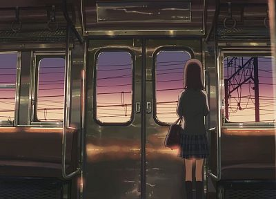 trains, Makoto Shinkai, lonely, 5 Centimeters Per Second, anime - desktop wallpaper