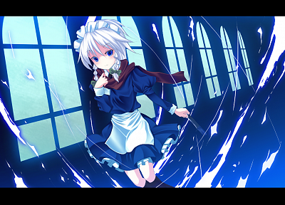 Touhou, maids, Izayoi Sakuya, games - random desktop wallpaper
