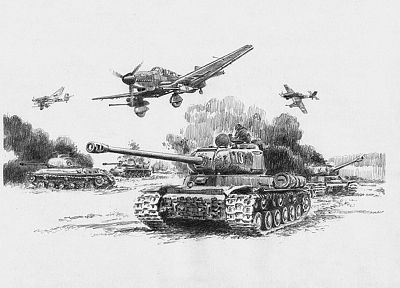 aircraft, World War II, Luftwaffe, drawings, Stuka, Junkers Ju 87 - related desktop wallpaper