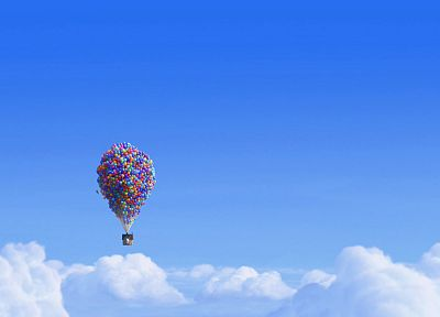 clouds, Up (movie), balloons - related desktop wallpaper