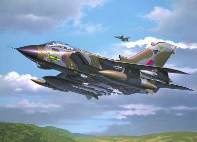 aircraft, military, artistic, illustrations, GR4 Tornado, Royal Air Force - related desktop wallpaper
