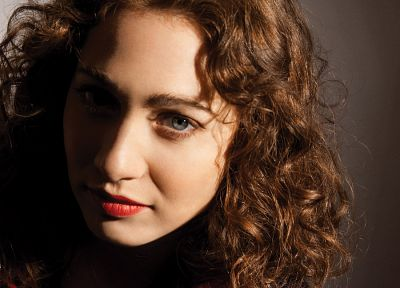 brunettes, women, blue eyes, Regina Spektor, singers, curly hair, faces - random desktop wallpaper