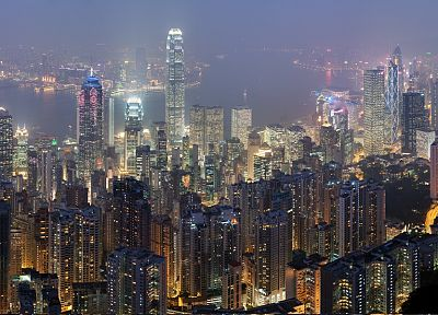 cityscapes, architecture, buildings, Hong Kong, skyscrapers, cities - desktop wallpaper