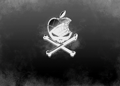 skulls, Apple Inc., skull and crossbones - related desktop wallpaper