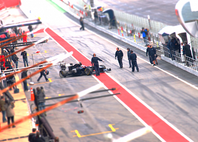 cars, circuits, Formula One, tilt-shift, montmeló, Williams - related desktop wallpaper