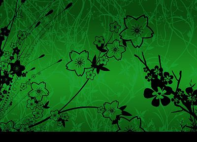 green, flowers - random desktop wallpaper