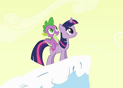 My Little Pony, Twilight Sparkle, Spike - desktop wallpaper