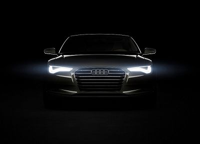 black, lights, Audi, concept cars, German cars - random desktop wallpaper