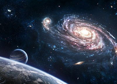 outer space, stars, galaxies, planets - related desktop wallpaper