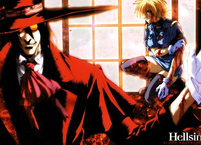 Hellsing, Alucard, vampires, Seras Victoria - related desktop wallpaper