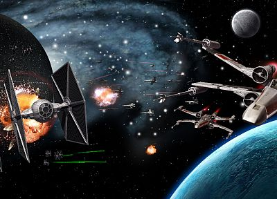 Star Wars, Death Star, X-Wing, Tie fighters, Star destroyers - related desktop wallpaper