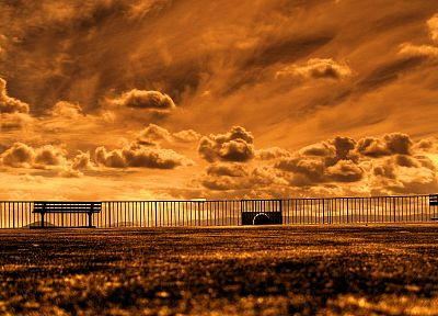 clouds, orange, skyscapes - random desktop wallpaper