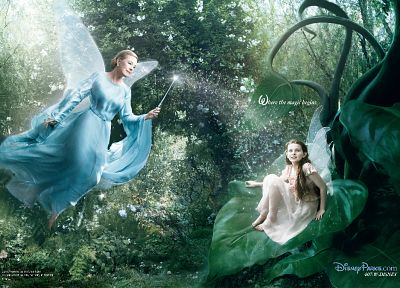 Disney Company, fairies, pinocchio, Abigail Breslin, Annie Leibovitz, Julie Andrews - random desktop wallpaper