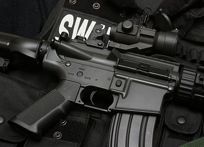 rifles, guns, SWAT, weapons, airsoft gun, M4 - desktop wallpaper