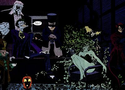 Batman, DC Comics, The Joker, Catwoman, Poison Ivy, Mad Hatter, Two-Face, The Penguin, Scarecrow (comic character) - related desktop wallpaper