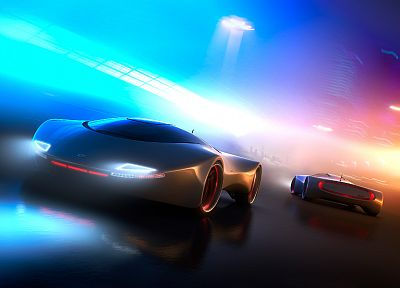 futuristic, cars, vehicles - desktop wallpaper