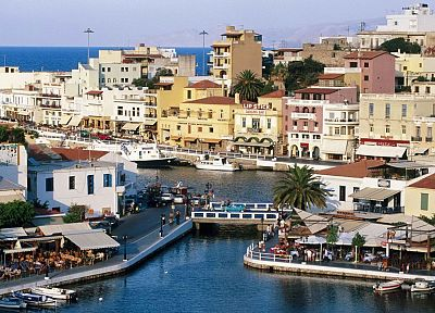Greece, Crete, harbours - random desktop wallpaper