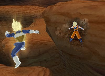 video games, Vegeta, Son Goku, Goku, Dragon Ball Z - related desktop wallpaper