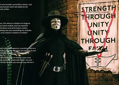 quotes, V for Vendetta - random desktop wallpaper