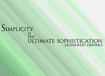 quotes, Leonardo da Vinci - random desktop wallpaper
